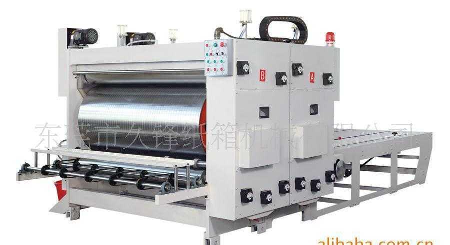 东莞直销柔印机 1650链条式双色水墨滚筒印刷机 纸箱机械设