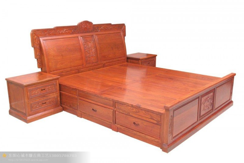 红木大床  红木家具加盟 买红木家具到新型建材网