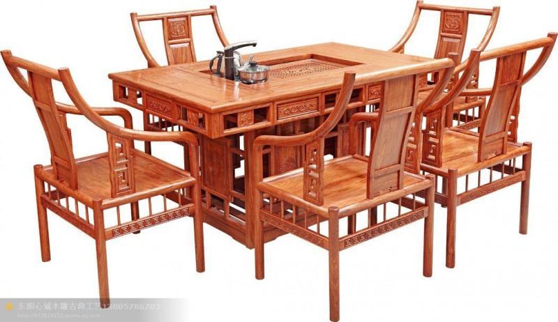 红木茶台 红木家具价格 我想买套红木家具