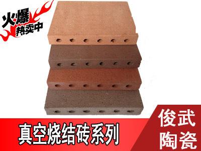 【精品】俊武新品真空烧结砖,专用地砖 ,耐磨透水。多色可选