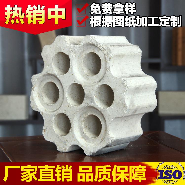 热风炉用高铝格子砖 7孔 一级高铝砖 异型 科瑞耐火材料厂家直供