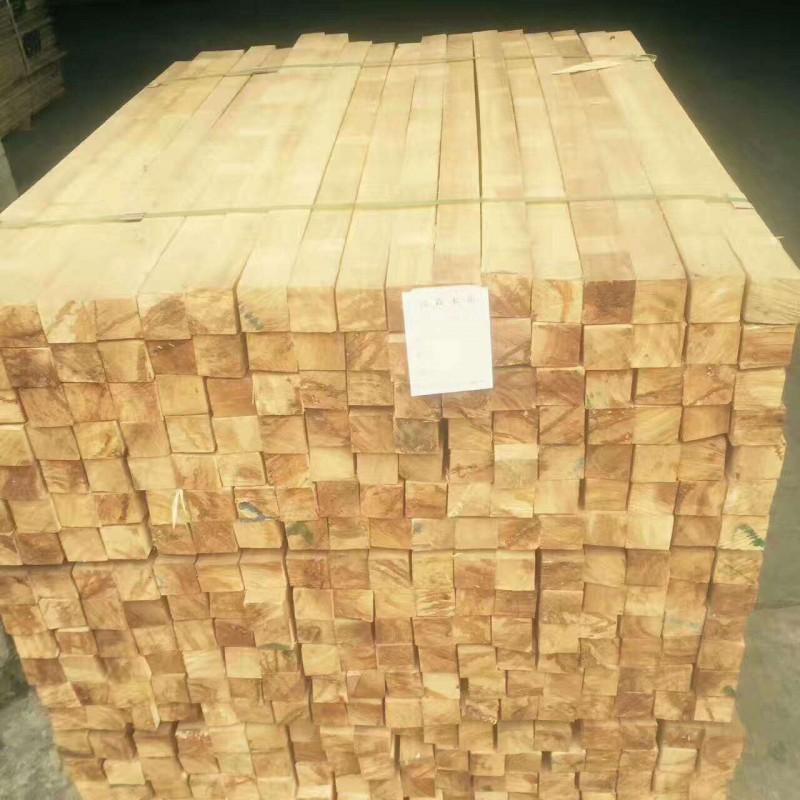 供应橡胶木板材进口橡胶木规格料 沙发料 楼梯柱子料木方条