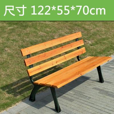 公园椅子户外实木长椅防腐木木凳子实木铁艺长凳子公园排椅等候椅