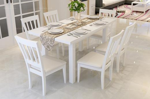 现代风格 可伸缩式餐桌 雅致白色 多功能餐桌