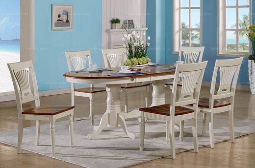 新技术家具 地中海风格 实木多功能可折叠蝴蝶餐桌