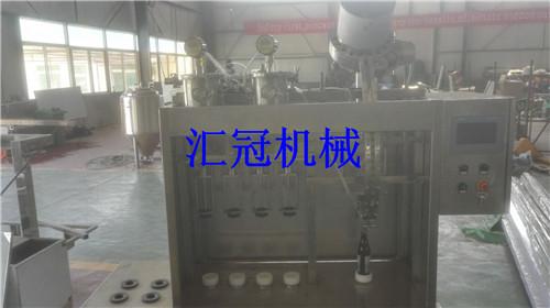 汇冠啤酒设备玻璃瓶半自动冲灌封合体机4-4-1