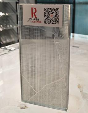 成都程美驿锦艺术玻璃夹丝玻璃供应直销低价