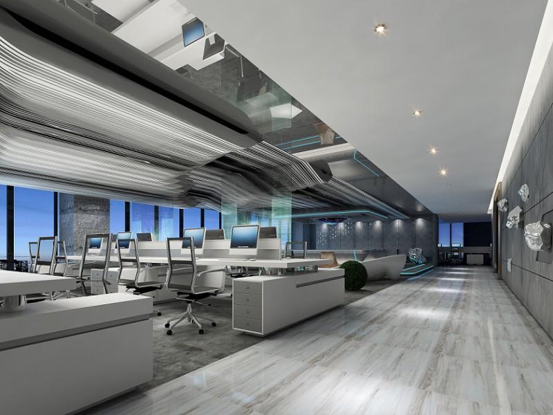 高端写字楼的办公室和厂房装修风格和案例工装装修公司